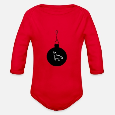 Bauble unicorn in a bauble - Organic Long-Sleeved Baby Bodysuit