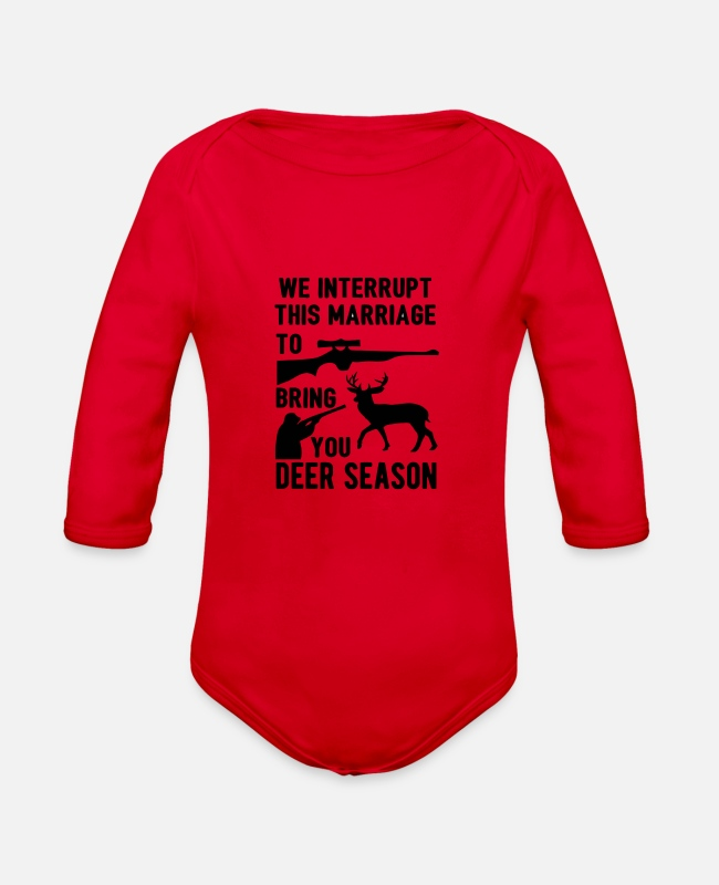 Marriage Equality Baby One Pieces - We Interrupt This Marriage - Organic Long-Sleeved Baby Bodysuit red