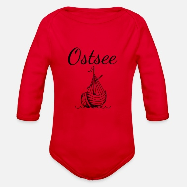 Baltic Sea baltic sea - Organic Long-Sleeved Baby Bodysuit