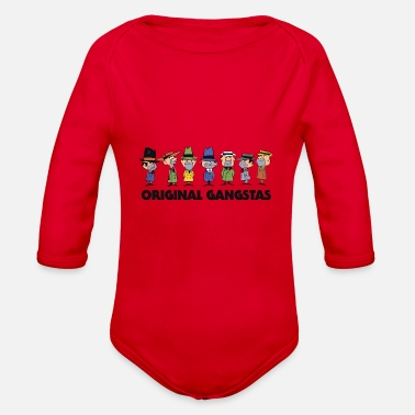 Gangster Original Gangsters Anthill Mob - Organic Long-Sleeved Baby Bodysuit