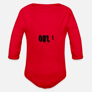 Out - Organic Long-Sleeved Baby Bodysuit