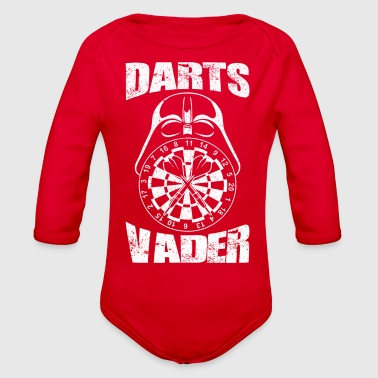 Darts Darts Vader Dart Player I am your father - Organic Long Sleeve Baby Bodysuit
