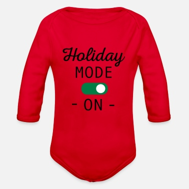 Holiday Mode - Organic Long-Sleeved Baby Bodysuit