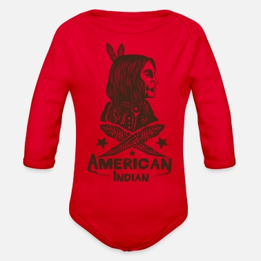 American Indian American Indian - Organic Long Sleeve Baby Bodysuit