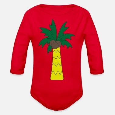 Palm Trees Palm tree - Organic Long Sleeve Baby Bodysuit