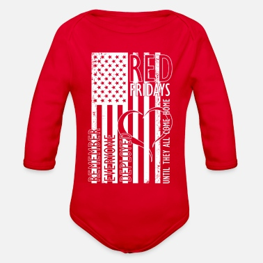 Wear RED Fridays Back - Organic Long Sleeve Baby Bodysuit