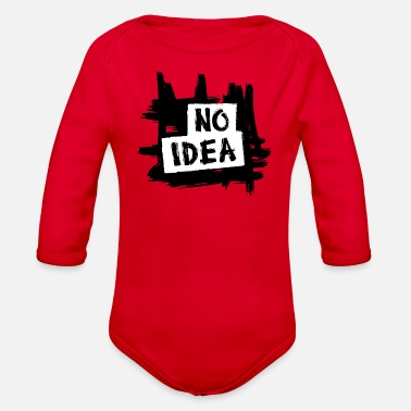 NO IDEA - Organic Long-Sleeved Baby Bodysuit