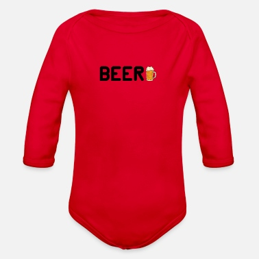 Beer BEER BEER - Organic Long-Sleeved Baby Bodysuit