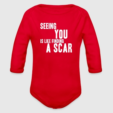 Seeing You Is Like Finding A Scar - Organic Long Sleeve Baby Bodysuit