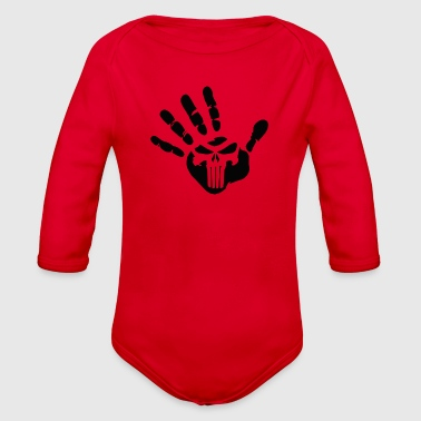 Finger Skull - Organic Long Sleeve Baby Bodysuit