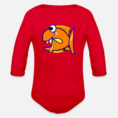 Piranha piranha - Organic Long Sleeve Baby Bodysuit