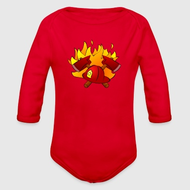 fire Department - Organic Long Sleeve Baby Bodysuit