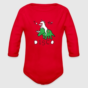 To the Disco - Organic Long Sleeve Baby Bodysuit