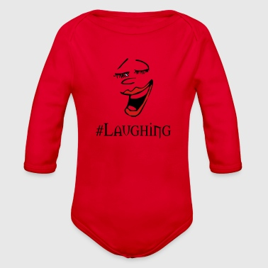 laughing - Organic Long Sleeve Baby Bodysuit