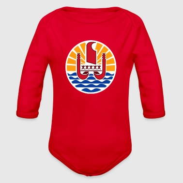 National Coat Of Arms Of French Polynesia - Organic Long Sleeve Baby Bodysuit