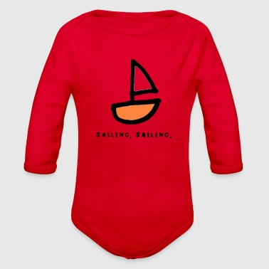 Sailing - Organic Long Sleeve Baby Bodysuit