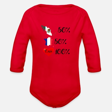 France/Mexico - Organic Long Sleeve Baby Bodysuit