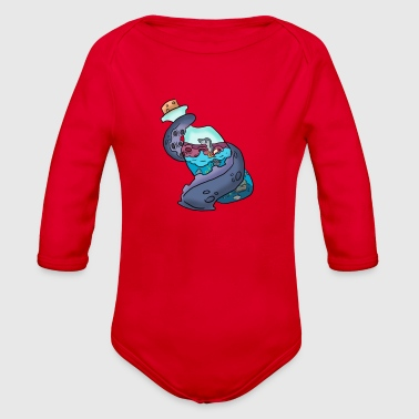 Tentacle on a bottle - Organic Long Sleeve Baby Bodysuit