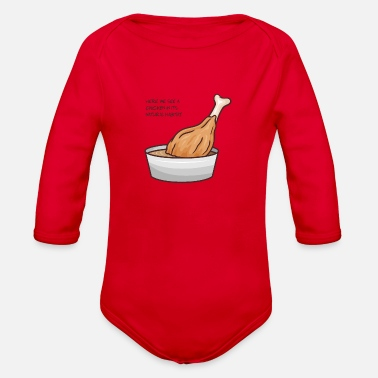 Habitat Chicken's Natural Habitat - Organic Long-Sleeved Baby Bodysuit