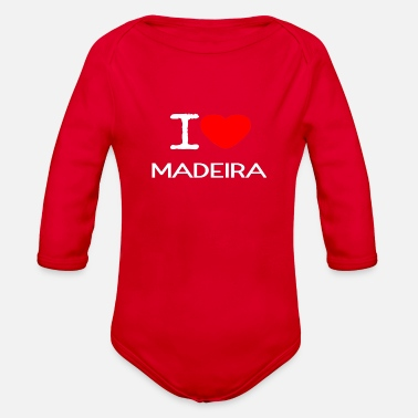 Funchal I LOVE MADEIRA - Organic Long-Sleeved Baby Bodysuit