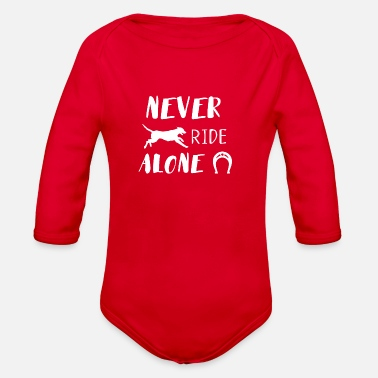 Never Ride alone - Organic Long-Sleeved Baby Bodysuit