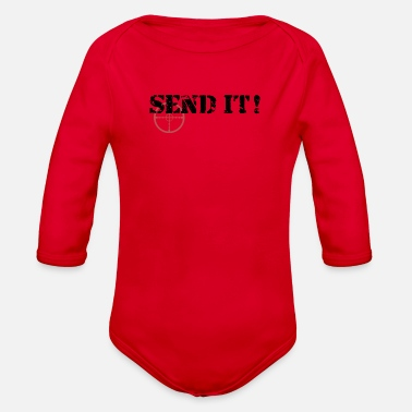 Send Send It - Organic Long Sleeve Baby Bodysuit