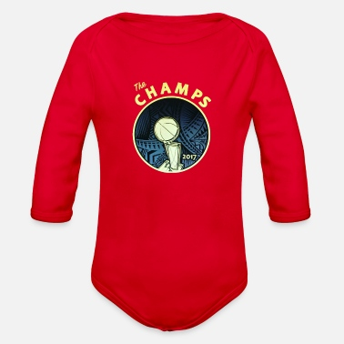 Champ the champs - Organic Long Sleeve Baby Bodysuit