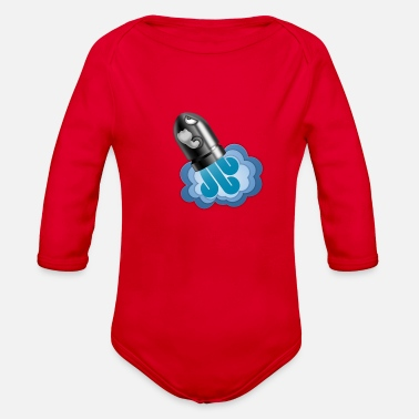 Graphic Art Rocket Cannon Graphic Art - Organic Long Sleeve Baby Bodysuit