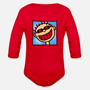 Tourist A Grinning Tourist - Organic Long Sleeve Baby Bodysuit