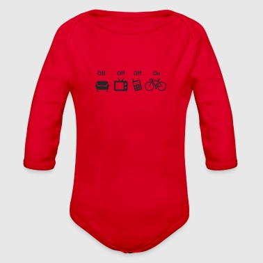 OFF Seat OFF TV OFF SMARTPHONE IN BIKE - Organic Long Sleeve Baby Bodysuit