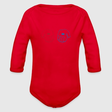 Red pill blue pill - Organic Long Sleeve Baby Bodysuit