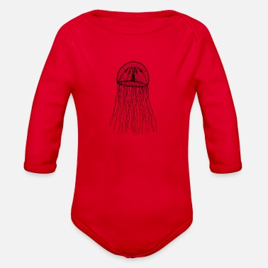 Jellyfish Jellyfish - Organic Long Sleeve Baby Bodysuit