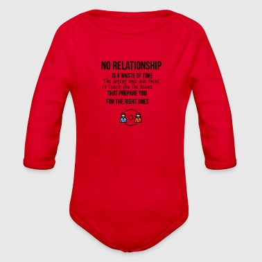 No relationship - Organic Long Sleeve Baby Bodysuit