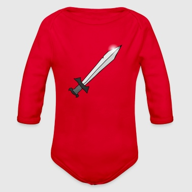 sword - Organic Long Sleeve Baby Bodysuit