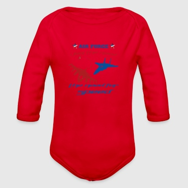 airforce i feel the need Speed - Organic Long Sleeve Baby Bodysuit