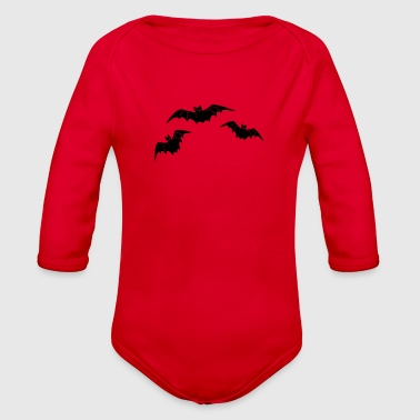Bat bat and bat - Organic Long Sleeve Baby Bodysuit