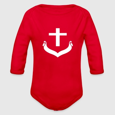 cross - Organic Long Sleeve Baby Bodysuit