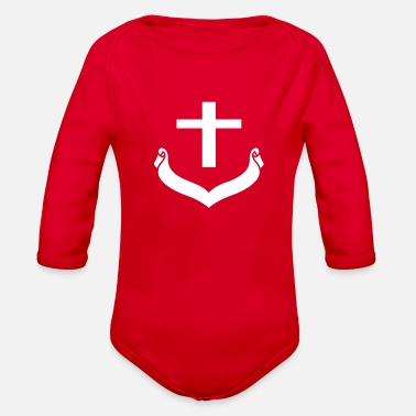 Cross cross - Organic Long Sleeve Baby Bodysuit