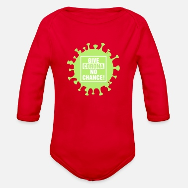 Coronavirus #1 - Organic Long-Sleeved Baby Bodysuit
