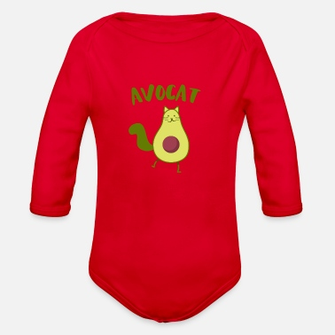 Funny avocat sweet avocado cats fish gift - Organic Long-Sleeved Baby Bodysuit