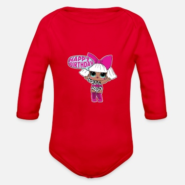 Surprise LOL BIRTHDAY 001 BL - Organic Long-Sleeved Baby Bodysuit