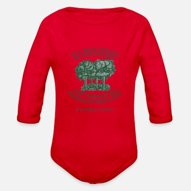 Forest In The Forest - Organic Long Sleeve Baby Bodysuit