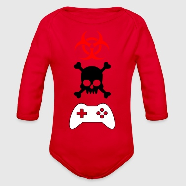 gamers gamers - Organic Long Sleeve Baby Bodysuit
