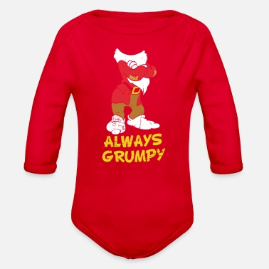 Morning Always Grumpy - Organic Long-Sleeved Baby Bodysuit