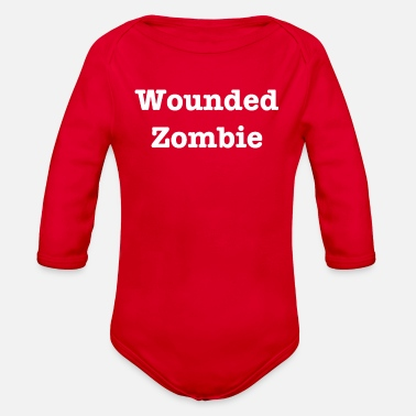 Wound Wounded Zombie - Organic Long-Sleeved Baby Bodysuit