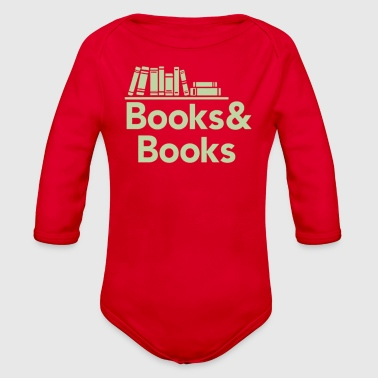 Book Books and books - Organic Long Sleeve Baby Bodysuit