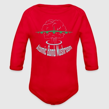 Atomic Bomb Atomic Bomb Mushroom - Organic Long Sleeve Baby Bodysuit
