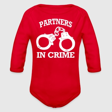 Partner Partners In Crime - Organic Long Sleeve Baby Bodysuit