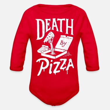 Death By Pizza - Organic Long-Sleeved Baby Bodysuit