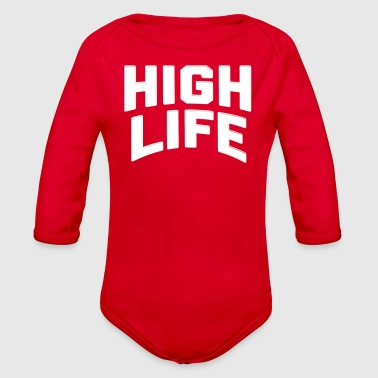 The High Life - Organic Long Sleeve Baby Bodysuit